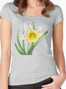 Beautiful yellow flower Women's Fitted Scoop T-Shirt