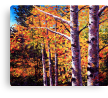 The Two Aspens Canvas Print