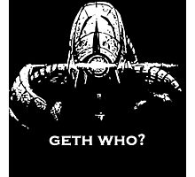 Geth Who Photographic Print