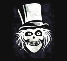 HATBOX GHOST WITH GRUNGY HAUNTED MANSION WALLPAPER Kids Clothes