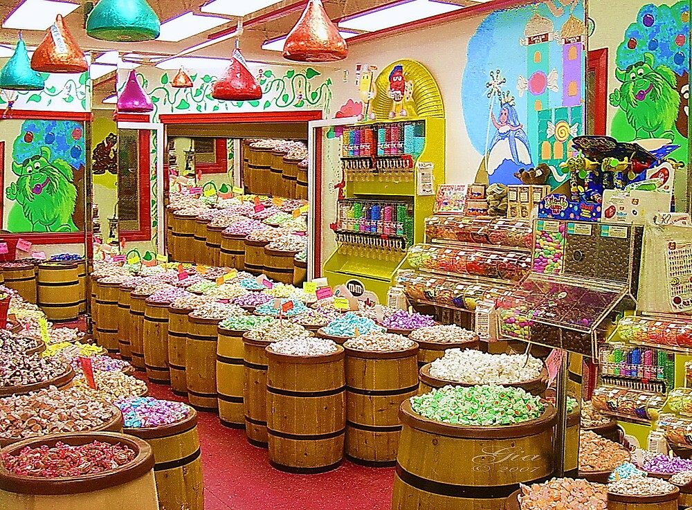 """Candyland"" A buffet of sweets ! by Gail Jones"