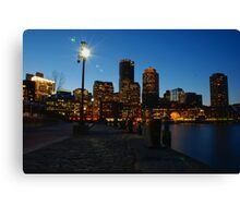 Boston Harbour Canvas Print