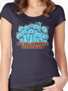 I'm Mr. Meeseeks. Look at me!  Women's Fitted Scoop T-Shirt