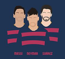 MSN - Messi Neymar Suarez - FC Barcelona by Fink76