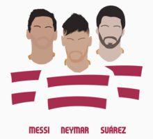 MSN - Messi Neymar Suarez - FC Barcelona Baby Tee