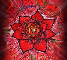 Root Chakra Red Lotus Flower by BlueMoonOwl