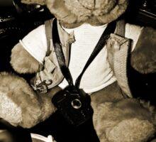 Teddy the Photographer Sticker