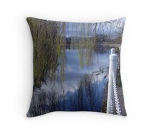 Willows and Water Throw Pillow
