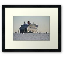 Queen Mary 2,leaving Adelaide,March,2010. Framed Print