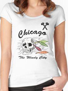 Windy City Blackhawks Women's Fitted Scoop T-Shirt