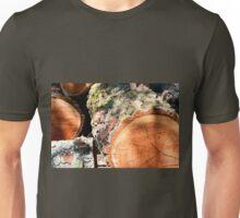 Wood pile Unisex T-Shirt