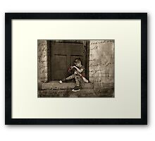 She Was Late Framed Print