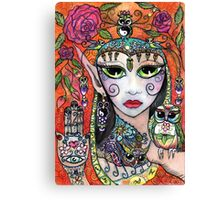 Gypsy Owl Oracle by Sheridon Rayment Canvas Print