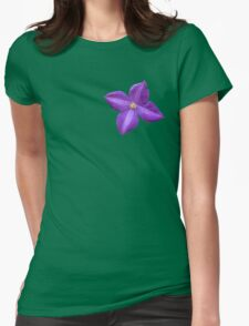 Cute purple violet Womens Fitted T-Shirt