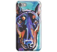 Doberman pinscher Dog Bright colorful pop dog artd iPhone Case/Skin