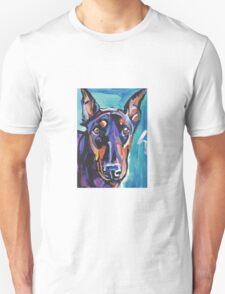 Doberman pinscher Dog Bright colorful pop dog artd Unisex T-Shirt