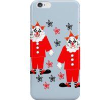 Fun Mime Artist Happy And Sad Clown Design iPhone Case/Skin