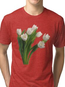 Bunch of white tulips Tri-blend T-Shirt