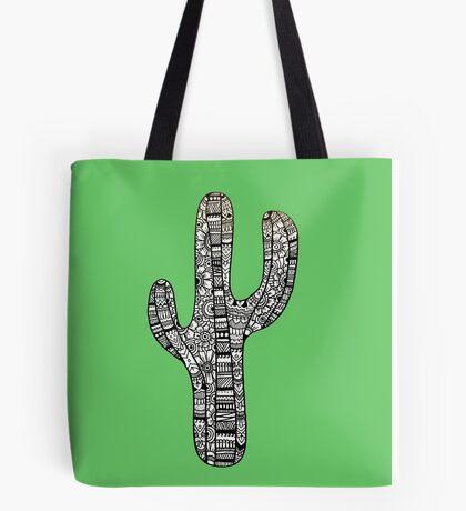Cactus: White/Black  Tote Bag