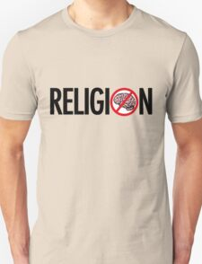 No Brains in Religion T-Shirt