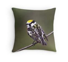 Flip Side Of The Chestnut Sided Warbler Throw Pillow