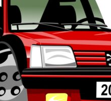 Peugeot 205 GTI caricature red Sticker