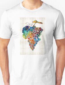 Colorful Grapes Fruit Art by Sharon Cummings T-Shirt