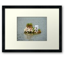 What am I doing here??? Framed Print