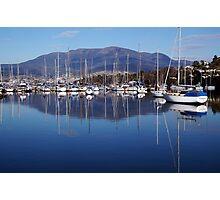 Boats In Hobart, Tasmania, Australia. Photographic Print