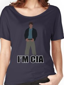 "DARK KNIGHT RISES ""I'M CIA""  Women's Relaxed Fit T-Shirt"