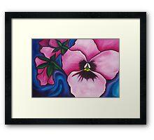 Pink Pansies Framed Print