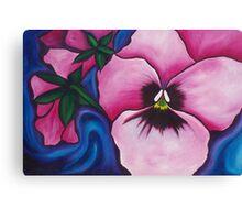 Pink Pansies Canvas Print