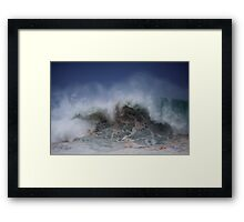 Winter Waves At Pipeline 5 Framed Print