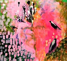 I love Magpies Painting by ThePaintedTree