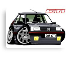 Peugeot 205 GTI caricature grey Canvas Print