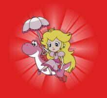 Yoshi and Chibi Peach Baby Tee