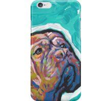 Dogue De Bordeaux Dog Bright colorful pop dog art iPhone Case/Skin