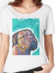 Dogue De Bordeaux Dog Bright colorful pop dog art Women's Relaxed Fit T-Shirt