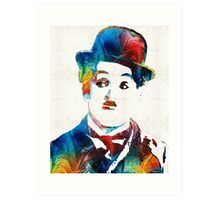 Charlie Chaplin Art - Oh Charlie - By Sharon Cummings Art Print