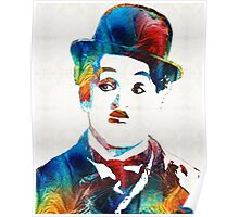 Charlie Chaplin Art - Oh Charlie - By Sharon Cummings Poster