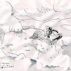 SKI HEAVEN(C2012)(PEN DRAWING) by Paul Romanowski