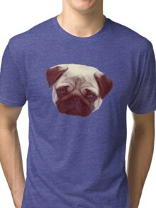 Little Pug Tri-blend T-Shirt