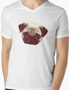 Little Pug Mens V-Neck T-Shirt