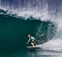 Dusty Payne at 2010 Billabong Pipe Masters In Memory Of Andy Irons by Alex Preiss