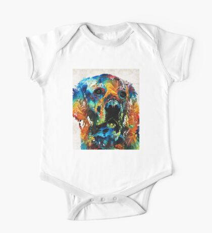 Colorful Dog Art - Heart And Soul - By Sharon Cummings One Piece - Short Sleeve
