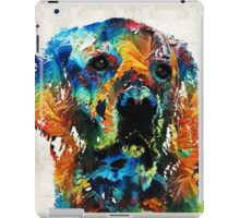 Colorful Dog Art - Heart And Soul - By Sharon Cummings iPad Case/Skin