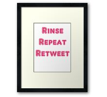 Iskybibblle Products Rinse Repeat Retweet Pink Framed Print