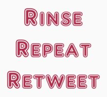 Iskybibblle Products Rinse Repeat Retweet Pink T-Shirt