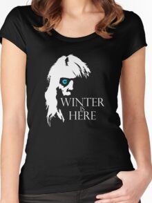 White Walker: Winter Is Here  Women's Fitted Scoop T-Shirt