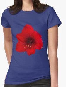 Handsome red flower Womens Fitted T-Shirt